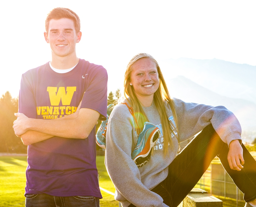 Cole Christman and Betsy Arlt are two of the top cross country runners in the area and have more in common than one might think.