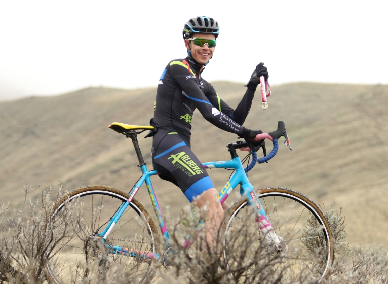 Local cyclist Cole Paton won the gold medal in the State Cyclocross Championship.